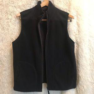 Kim Rogers reversible black fleece vest